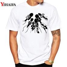 Mens T-shirts Summer Hipster microphone 3D Print t shirt Funny Men Casual O-Neck Tees Shirt Tops
