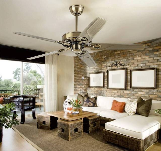 48inch 42inch Continental retro ceiling fan without a