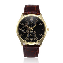 Relogio Masculino Bussiness Retro Design Leather Band Analog Alloy Quartz Sports Wrist Watch Mens Clock Relojes Hombre Hours
