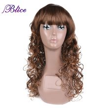 "Blice Kanekalon Synthetic Curly Wig Long Curly Wig For Women 24"" 170g 100% Kanekalon Synthetic Wig Mixed Color #FT4/30 Available(China)"