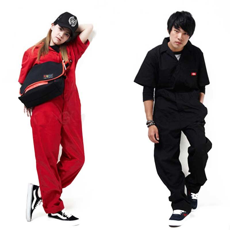 Men hip hop dancing coverall jumpsuit dancer hiphop pants 2016 summer fashion short-sleeve one piece overalls Plus Size S-XXXL