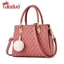 Ladies Hand Bags Famous Brand Bags Logo Handbags Women Fashion High Quality Fur Ball PU Leather Pochette Shoulder Bag Women Bags