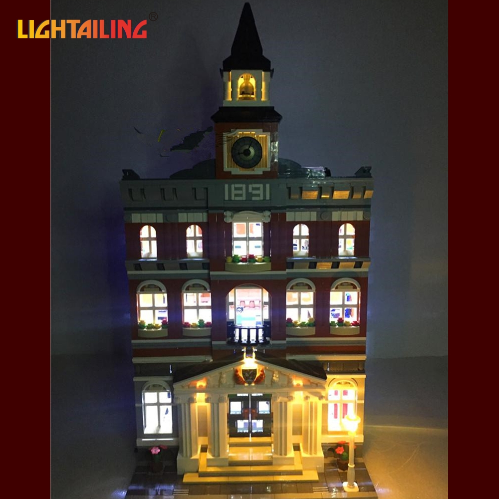 Фото LIGHTAILING Led Light Up Kit  For Creator City The Town Hall Building Blcok Model Light Set Compatible With 10224 And 15003
