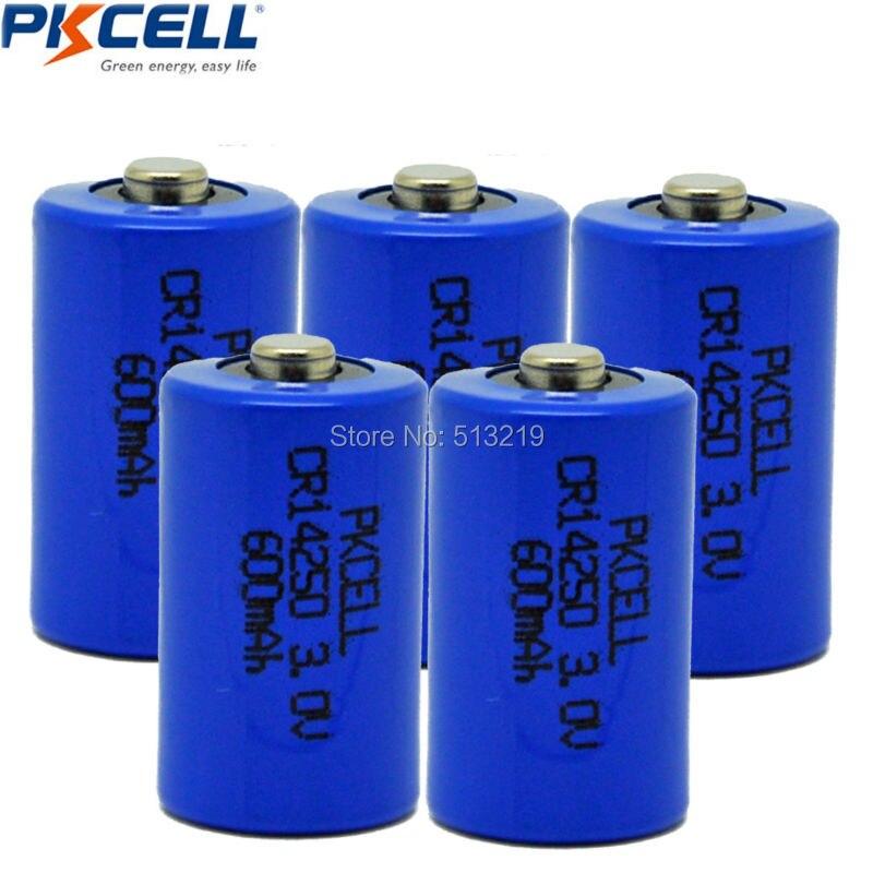 5Pcs 1/2AA <font><b>Battery</b></font> CR14250 14250 CR <font><b>3V</b></font> 600mAh Lithium <font><b>Battery</b></font> <font><b>Li</b></font>/MonO2 <font><b>Batteries</b></font>
