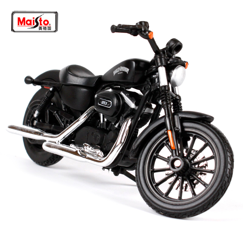 Maisto 1:18 2014 Harley Sportster IRON 883 MOTORCYCLE BIKE Model NEW IN BOX Gratis forsendelse 14075