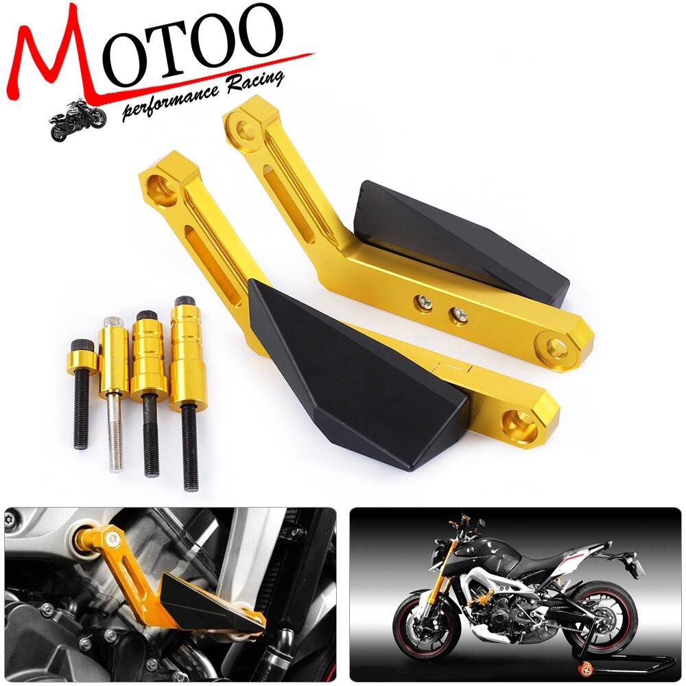 Motoo - NEW Protector Motorcycle For YAMAHA MT-09 MT09 TRACER FZ09 FJ09  Frame Sliders Crash Falling Protection cnc short adjustable brake clutch lever for yamaha fz07 fz 07 mt 07 mt07 fz 09 fz09 mt 09 mt09 fj09 fj 09 tracer