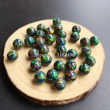 50 teile/los 8mm OP32 Runde Ball Opal Synthetische Runde Opal Perlen, Lose Opal Perlen Für Opal Halskette
