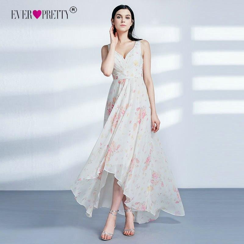 Ever Pretty   Bridesmaid     Dresses   New Elegant Cheap High Low V-neck Irregular Summer Beach   Dresses   EP07383 Wedding Party   Dresses
