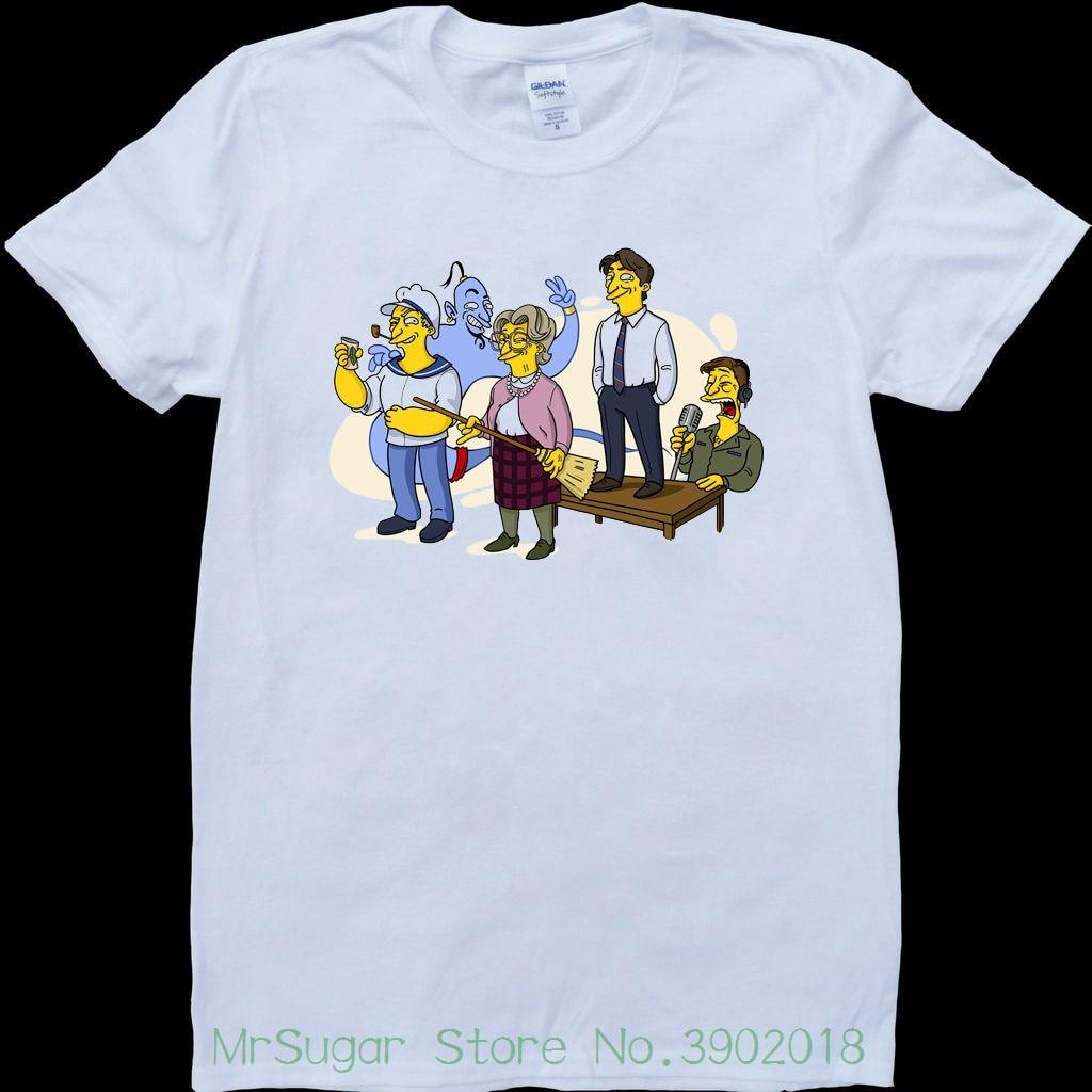 Robin Williams Characters Mens White , Custom Made T-shirt T Shirts Short Sleeve Leisure Fashion Summer