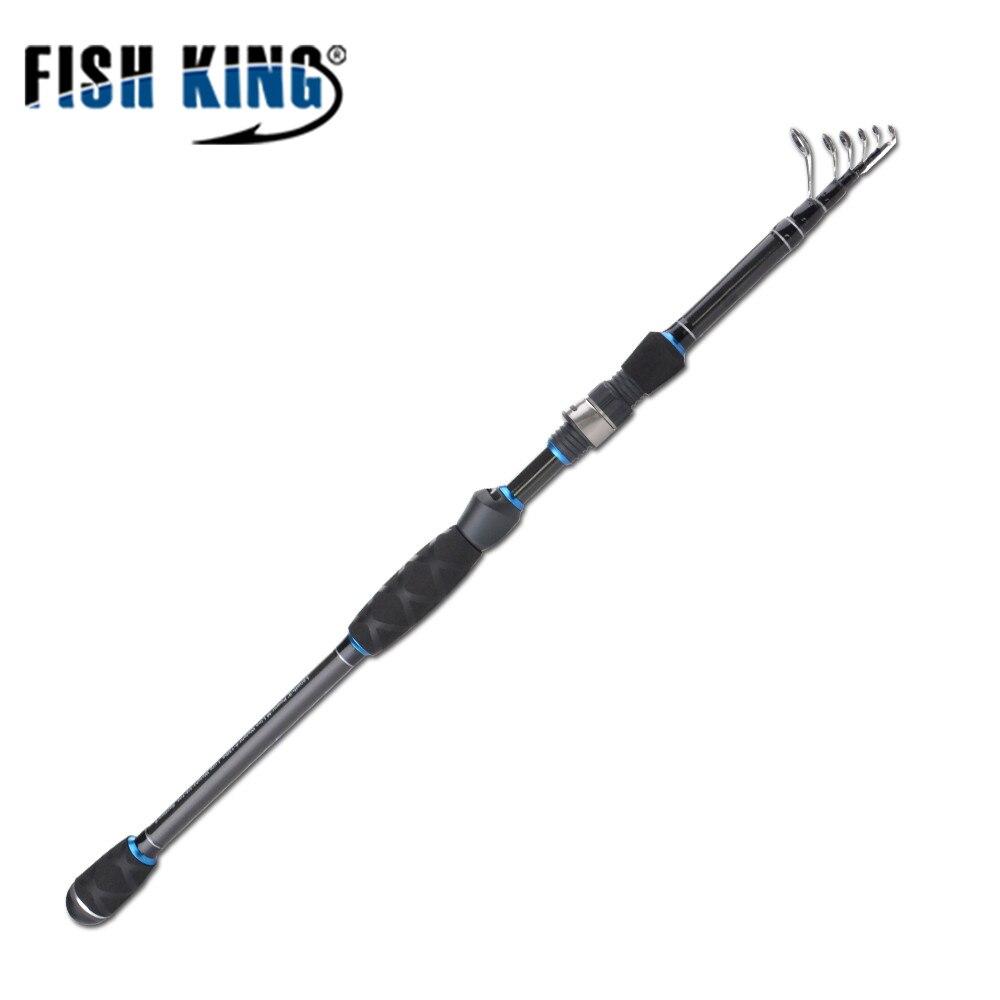 FISH KING 2.1M 2.4M 2.7M Carbon Fishing Rod Carp Rod Spinning Casting Pole Boat Fish Rod Peche Fishing Tackle Pesca