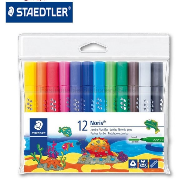 STAEDTLER 328-B WP12 12 color 3.0mm Art Markers Pens set Triangular thick bar Water-soluble Office & School Supplies staedtler 308 sbk3p 3 pcs art markers pens set send backpack stationery office accessories school supplies
