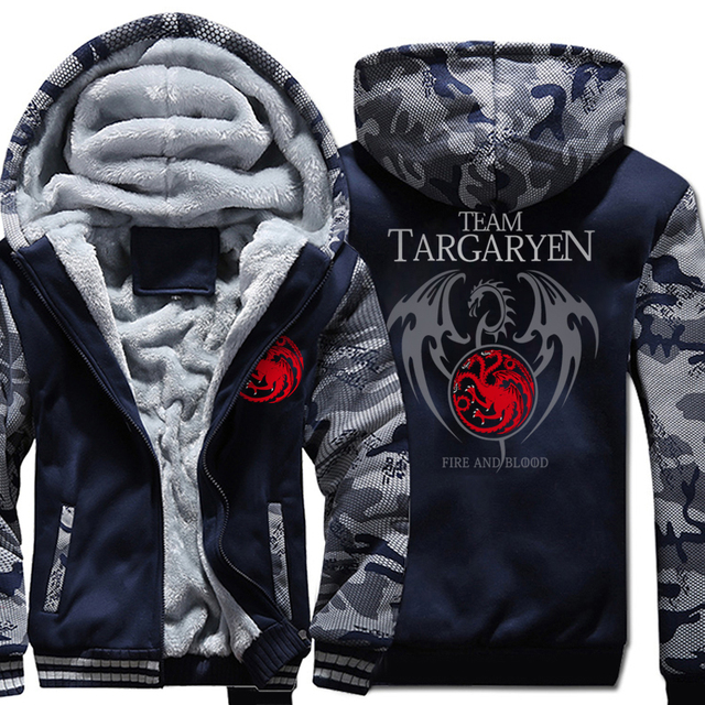 41a36ef4903 Team Targaryen Fire   Blood Game of Thrones Men s Hoodies 2019 Winter Hot  Sale Fleece Sweatshirt Men Thicken Warms Brand Jacket-in Hoodies    Sweatshirts ...
