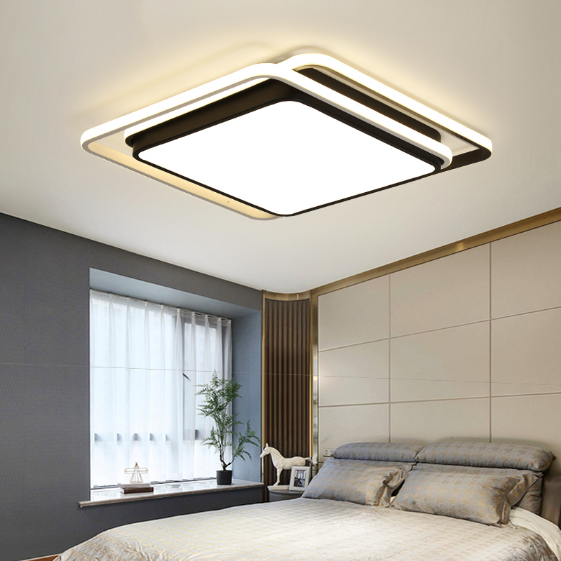 Modern Chandeliers LED Lamp For Living Room Bedroom Study Room White Black Color Surface Mounted Chandeliers Deco AC85-265V