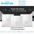 Broadlink tc2 1 gang 2 gang interruptor del tacto de 3 cuadrillas estándar del reino unido, smart home automation, control inalámbrico wifi luces de pared interruptor rf433