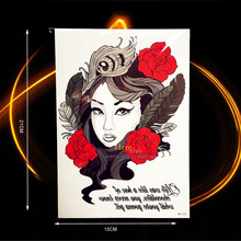 Sexy Products Women Temporary Tattoo Sticker Wall Decal Fake Flash Henna Roses Tattoo Paste HHB18 Girl Makeup Tips Feather Tatoo
