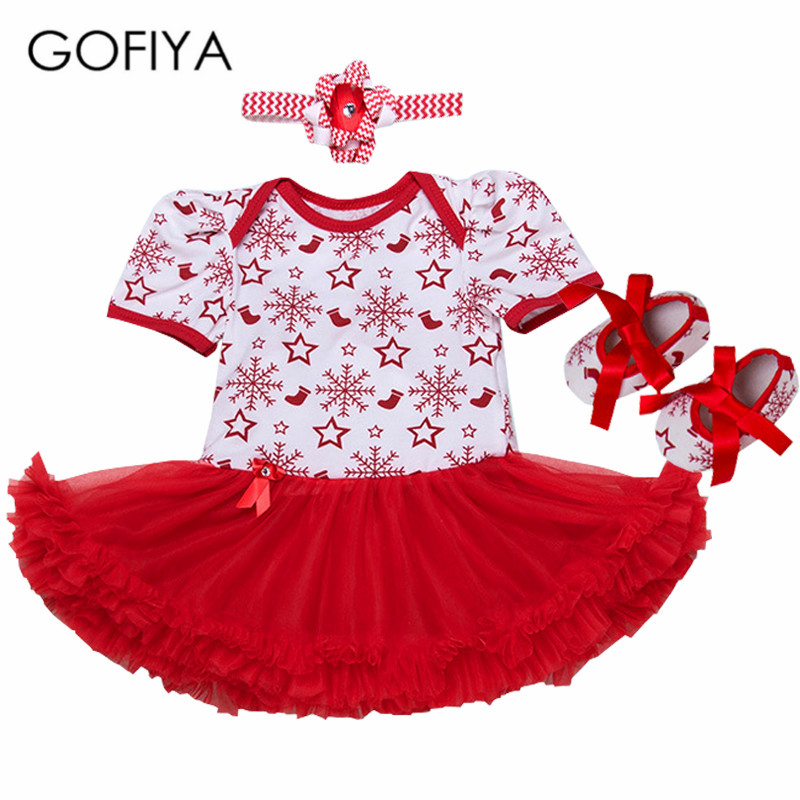 Christmas Baby Girl Infant 3pcs Clothing Sets Suit snowflake Tutu Romper Dress/Jumpsuit Xmas Bebe Party Birthday Costume Vestido baby girl infant 3pcs clothing sets tutu romper dress jumpersuit one or two yrs old bebe party birthday suit costumes vestidos