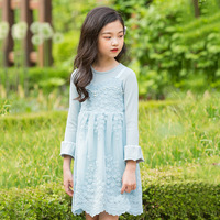 autumn girl dress elegant long sleeve kids dresses for girls lace party dress princess clothes 2018 fall teenage girls dresses