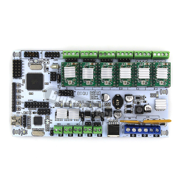 BIQU Rumba control Board For 3D printer motherboard rumba MPU RUMBA optimized version  with 6pcs A4988 Stepper Driver biqu rumba control board for 3d printer motherboard rumba mpu rumba optimized version with 6pcs a4988 stepper driver