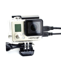 For GoPro Hero 4/3+ Skeleton Protective Housing Case Side Opening Connected AV USB HDMI Cable With Lens For Gopro Hero 3+ Hero4