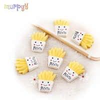 10 Pcs/lot frites charme slime modèle polymère remplissage Slime pâte à modeler Lizun kit de bricolage slime accessoires pour enfants cadeaux