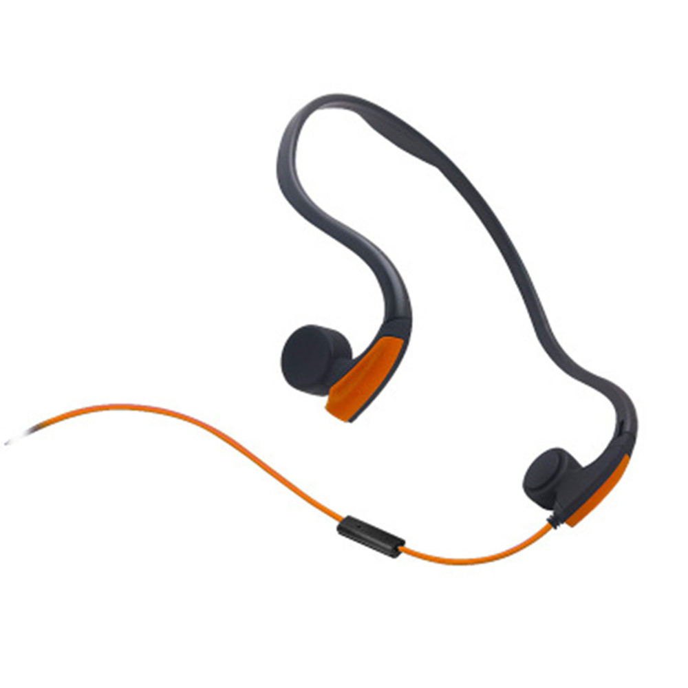 Bone Conduction Transmit Headsets Wired Earphone Outdoor Sports Headphones Noise Reduction Hands-free with Mic for Smart Phones