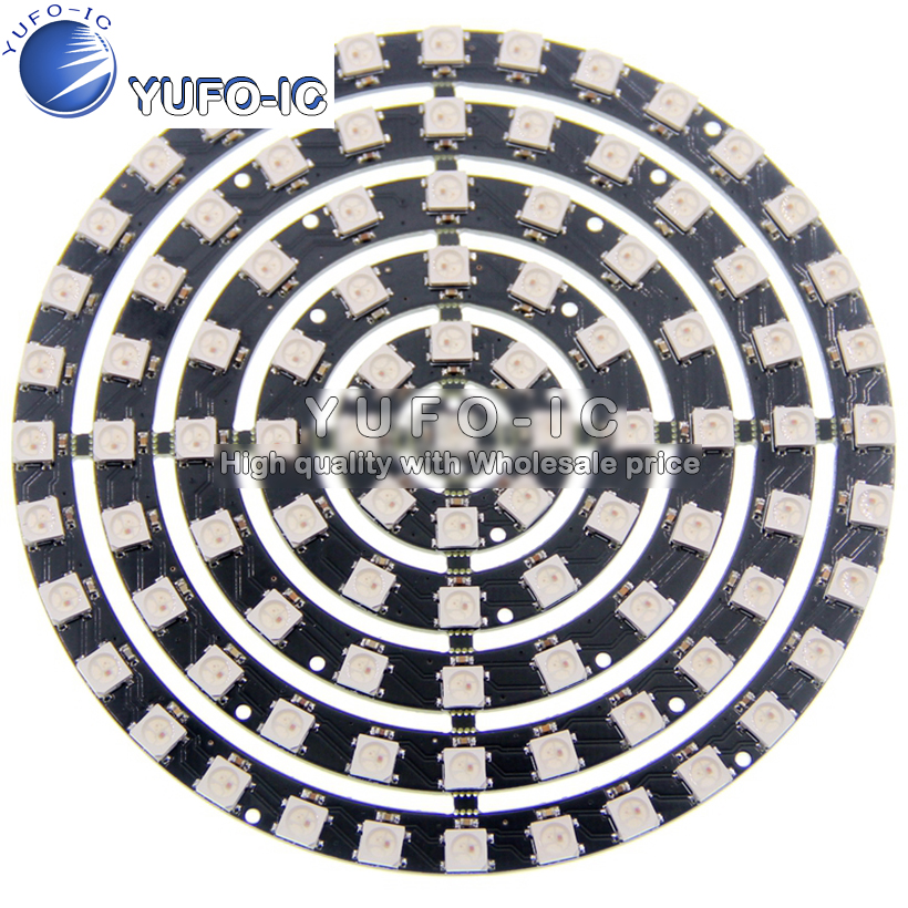 Full color LED ring built-in IC point control the 1-8-12-16-24-32 WS2812B 93 light circular discFull color LED ring built-in IC point control the 1-8-12-16-24-32 WS2812B 93 light circular disc