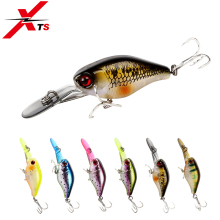 Купить с кэшбэком XTS Fishing Lure Artificial  Hard Bait Crankbait Wobblers 50mm 5g Slow Sinking Minnow Lures With Colorful Lip Fishing Lure 5316