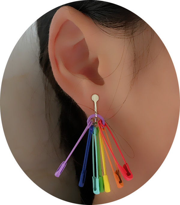 Rainbow Pins Earrings 2