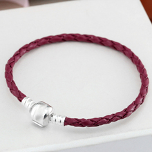 Color Leather Snake Chain