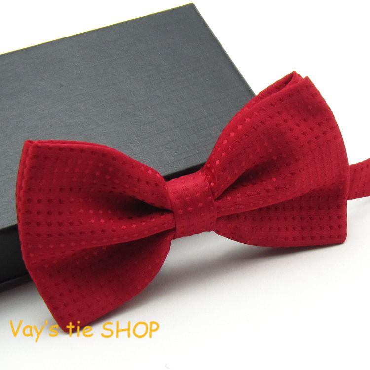 Mens Noeud Papillon Classic Male Fashion Dull Jacquard  New Red Dots Leisure Bowties Wedding Tuxedo Party Bow Ties Freeshipping