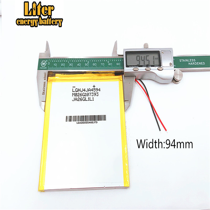 3.7V,<font><b>6000mAH</b></font>,4593105 X80H X80HD X80Plus X80Pro A80HD A80se P85HD P85A T20, VI40, A86 Dual Core P85 Tablet PC li-po battery image