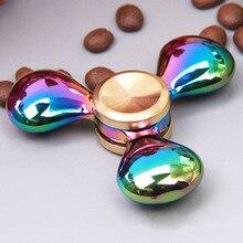 MulticolorโลหะTri-s pinner EDCมือปั่นautismeสมาธิสั้นrotatieมีเหตุมีผลต่อต้านความเครียดบีบอัดสิ่งประดิษฐ์อยู่ไม่สุขปินเนอร์B0514