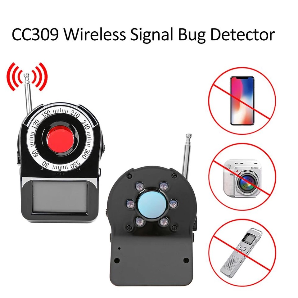 CC309 Anti Candid Camera Detector Wireless Signal Bug Detector Privacy Security Protector GPS Signal Finder Tracker