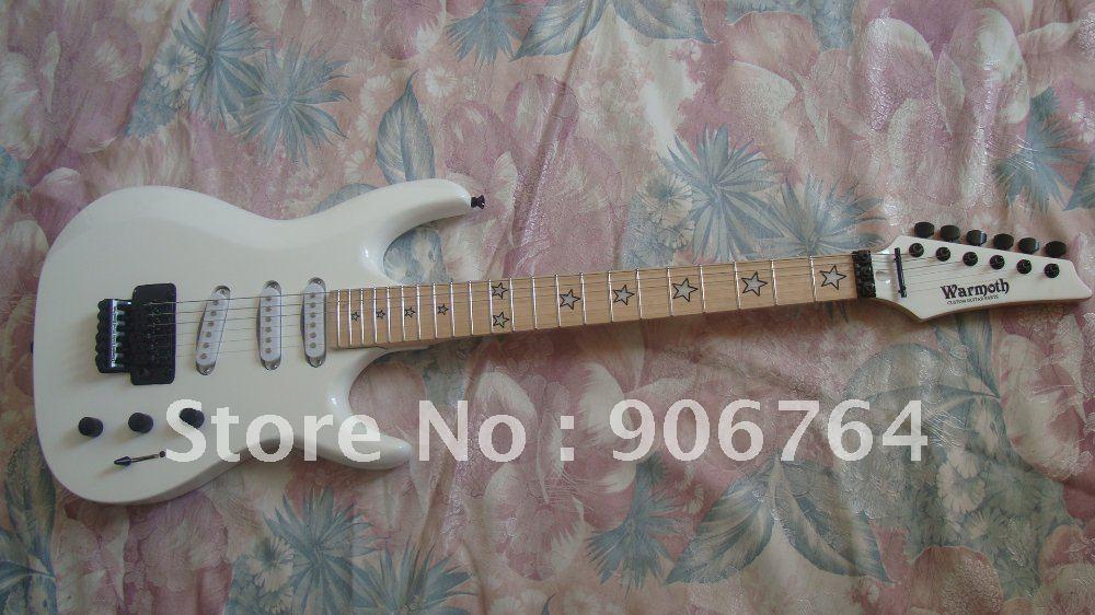 new white warmoth custom shop floyd rose tremolo guitar star