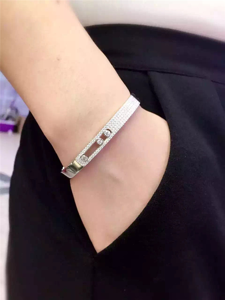 Pure 925 Sterling Silver move jewelry cz stones move bangles for Women Cubic Zirconia moving bracelets Party Fashion Jewelry fashion 2 size pure tungsten steel hematite couple bracelets bangles for women jewelry mens silver color bracelets for lover s