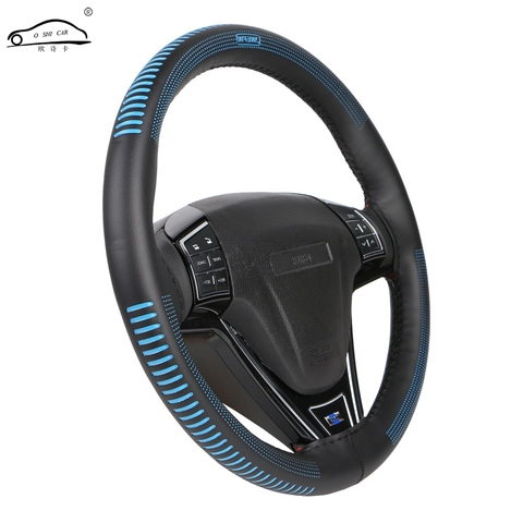 Steering Wheel Cover Universal 38 cm/Artificial Leather Braid for Steering-wheel DIY Thread, Needle Stitch on(3D embossing) Pakistan