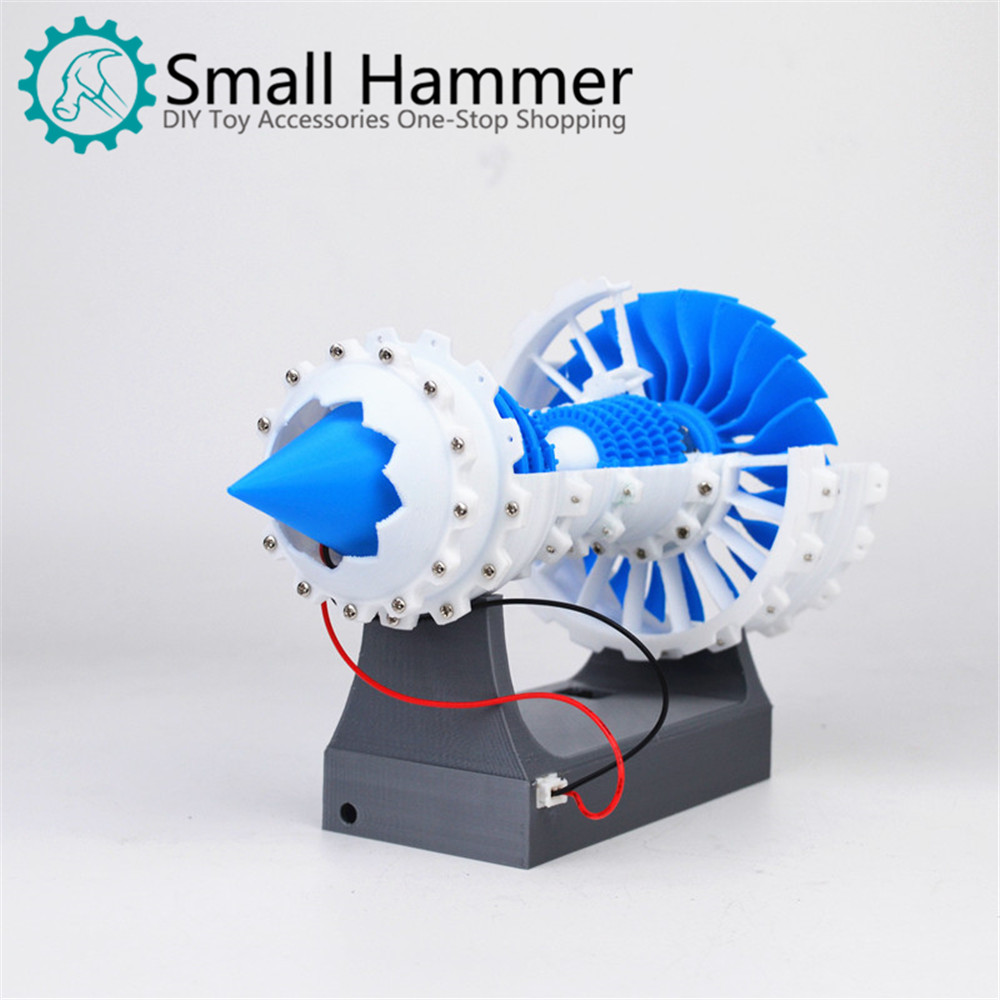 Aero Engine Turbo Fan Engine Model Air Engine Model Electric 3D Printer