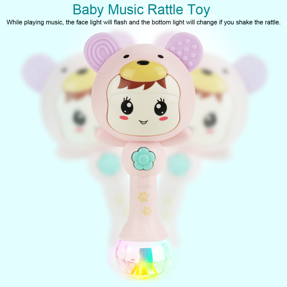 1pc Baby Shaker Sand Hammer Toy Rattles Rhythm Stick Baby Rattles Kids Party Musical Instrument Toys With Lighting Hand Bell Toys & Hobbies