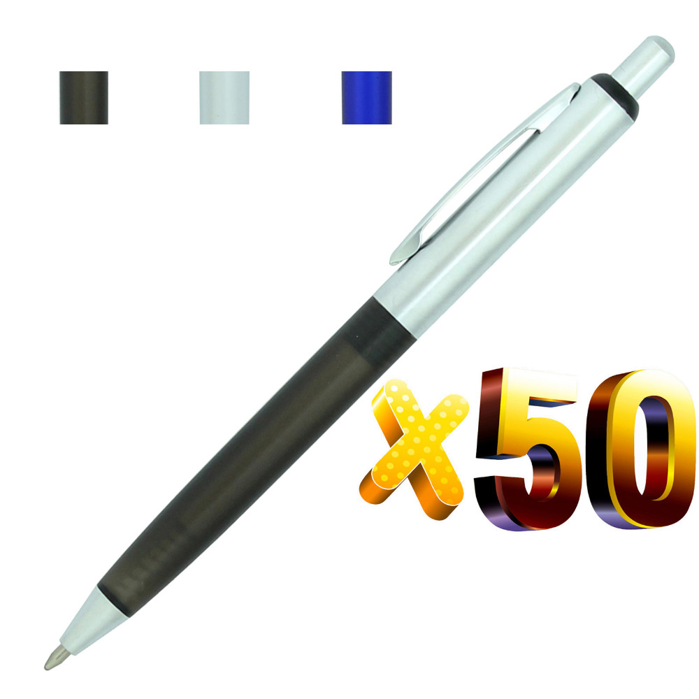 Lot 50pcs Dallas Ball Pen,Free Laser Engraved Promotional Customized Gift,Personalized Giveaway,Black Ink Refill