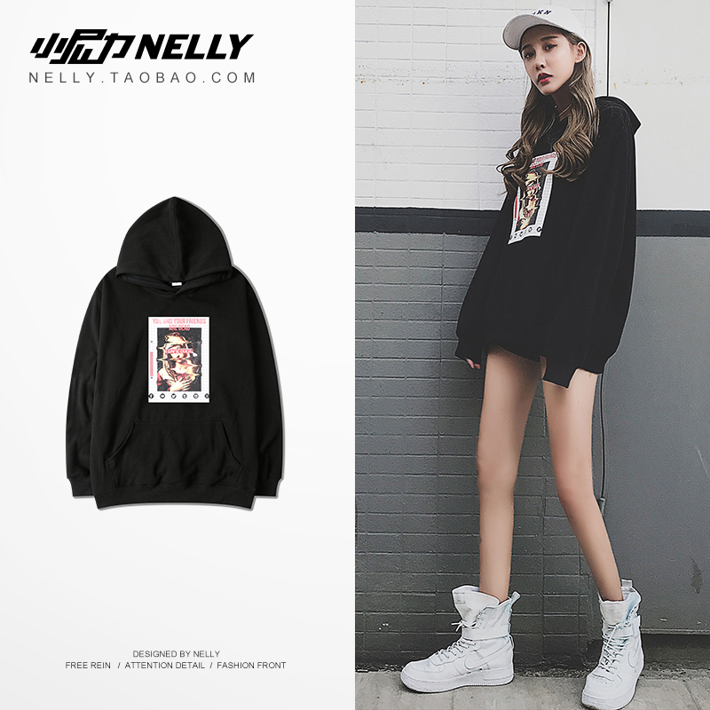NELLY 2019 Autumn Winter England Hoodie Warm Long Sleeve Top Men Fashion Fashion Hip Hop High Street Sweatshirt(China)