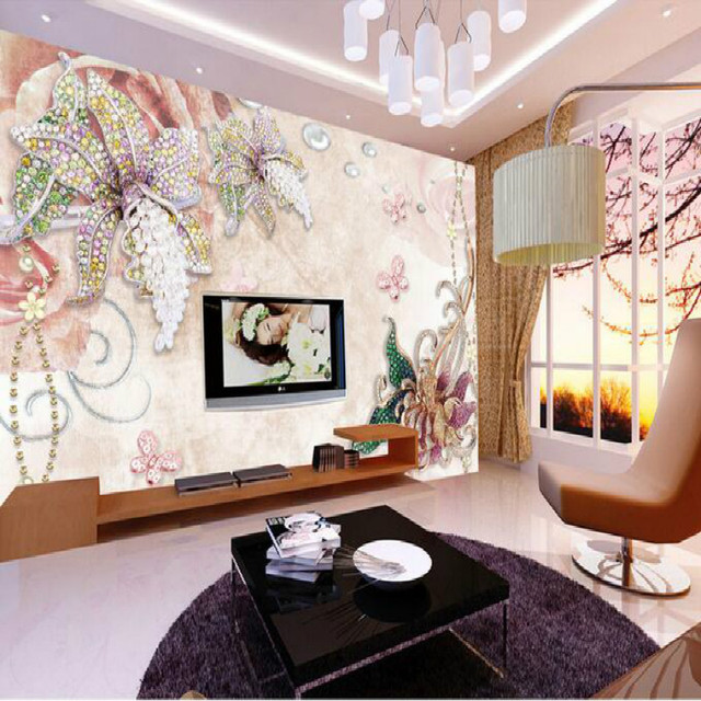 Vintage Exquisite Blume Wohnzimmer Große Fresko Tapete Schlafzimmer Malerei  TV Hintergrund 3D Wallpaper Für Wand Schlafzimmer