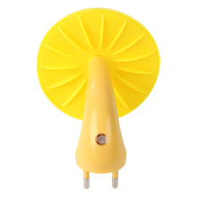 Night Light Warm Yellow Mushroom Wall Socket
