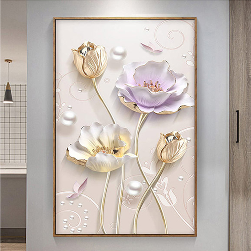 5D DIY Flower Diamond Painting Round Special Shaped,3D,Diamond Embroidery,Cross Stitch,Mosaic,Bead Picture,Rhinestone Decoration
