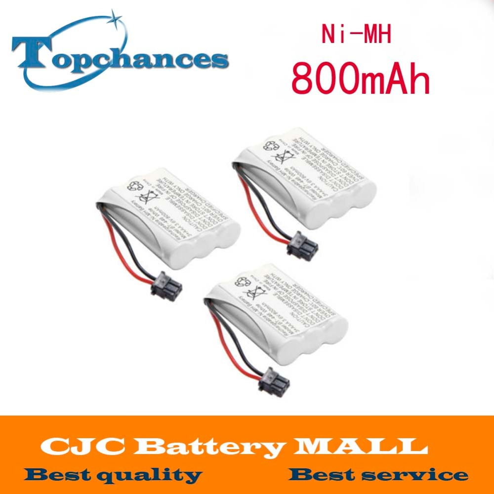 3 Pcs Home Cordless Phone Battery for Uniden BT-446 BT446 ER-P512 3.6V 800MAH NI-MH