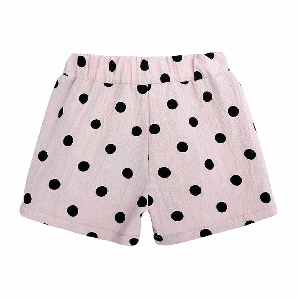 SAGACE spodenki shorty fille spodenki dla dziewczynek dla dzieci dla dzieci na co dzień dziewczyny spodenki w pasie Polka Dot spodnie letnie Jun18