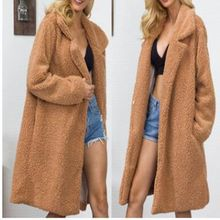 Brieuces new Winter Women lapel Long imitation Fur Coat Domineering woman Sleeve Feral Faux Coats Fashion Warm Outwear