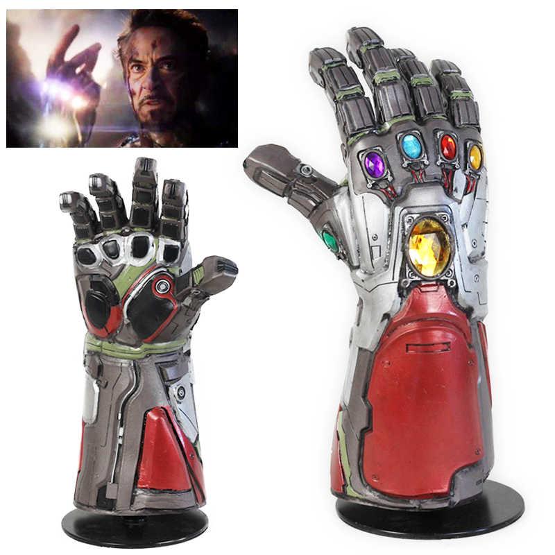 Los Vengadores 4 final guantelete del infinito Hulk Cosplay tony stark de hierro hombre Cosplay Thanos guantes de látex máscara Marvel superhéroe Accesorios