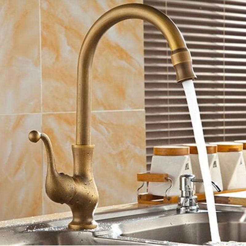 kitchen Faucet Brass antique basin faucet antique , rotated 360 degrees cottage faucetkitchen Faucet Brass antique basin faucet antique , rotated 360 degrees cottage faucet