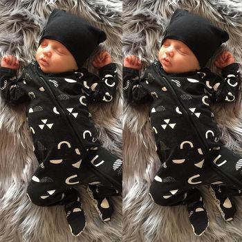 Newborn Baby Kids Boys Girls Clothes Warm Jumpsuit Romper Cotton Baby Boy Zipper Clothes Outfits Set 0-18M 1