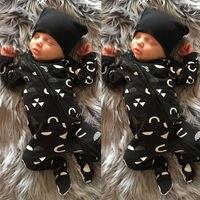 Одежда для новорожденных мальчиков и девочек, теплый комбинезон, хлопковый комбинезон на молнии для маленьких мальчиков, комплект одежды д...